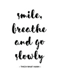 Smile Breathe Print by Pop Monica