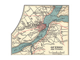 Map of Quebec (C. 1900), Maps Giclee Print