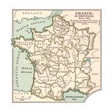 Inset Map of France in Provinces before 1789 Gicléedruk van  Encyclopaedia Britannica