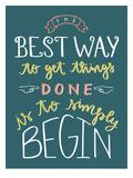 Simply To Begin Plakater af Samantha Ranlet