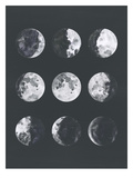 Moon Phases Watercolor Ii Plakater av Samantha Ranlet