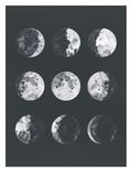 Samantha Ranlet - Moon Phases Watercolor Ii - Poster