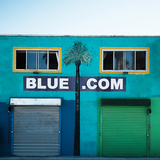 Blue Dot Com Poster by Vera Mladenovic