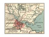 Map of Amsterdam (C. 1900), Maps Gicléedruk van  Encyclopaedia Britannica