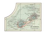 Inset Map of the Bermudas. Caribbean Islands Gicléedruk van  Encyclopaedia Britannica