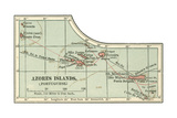 Inset Map of the Azores Islands (Portuguese) Giclee Print by  Encyclopaedia Britannica