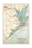 Map of Galveston Bay, Houston and Vicinity (C. 1900) Giclee Print by  Encyclopaedia Britannica