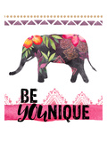 Be Younique-Elephant Posters by Amy Brinkman