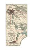 Map Illustrating Battles of the American Civil War Held around the Richmond, Virgina Area Gicléedruk van  Encyclopaedia Britannica