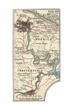Map Illustrating Battles of the American Civil War Held around the Richmond, Virgina Area Giclee Print