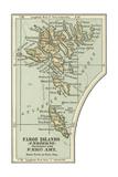 Inset Map of the Faroe Islands (Faeroerne) Gicléedruk van  Encyclopaedia Britannica