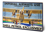 Shell - Imperial Airways Wood Sign Wood Sign