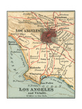 Los Angeles and Vicinity (C. 1900), from the 10th Edition of Encyclopaedia Britannica, Maps Giclee Print by  Encyclopaedia Britannica