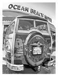 Ocean Beach Woodie #9 Posters af Murray Bolesta