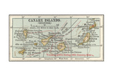 Plate 20. Inset Map of the Canary Islands (Spanish). Palma Giclee Print by  Encyclopaedia Britannica
