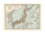Map of Japan and Korea. Insets of Kurile Islands and Liu-Kiu Islands and Formosa (Taiwan) Gicléedruk van  Encyclopaedia Britannica
