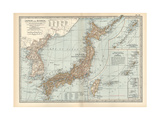 Map of Japan and Korea. Insets of Kurile Islands and Liu-Kiu Islands and Formosa (Taiwan) Giclee Print by  Encyclopaedia Britannica