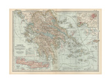 Plate 36. Map of Greece Giclee Print by  Encyclopaedia Britannica