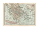Plate 36. Map of Greece Giclee Print