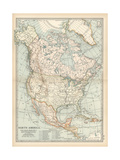 Plate 58. Map of North America. Alaska Giclee Print by  Encyclopaedia Britannica