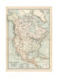 Plate 58. Map of North America. Alaska Impressão giclée por  Encyclopaedia Britannica