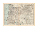Plate 112. Map of Oregon. United States Giclee Print by  Encyclopaedia Britannica