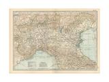 Map of Italy, Northern Part Gicléedruk van  Encyclopaedia Britannica
