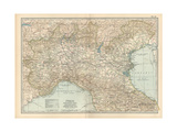 Map of Italy, Northern Part Giclee Print by  Encyclopaedia Britannica