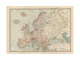 Plate 2. Map of Europe Gicléedruk van  Encyclopaedia Britannica