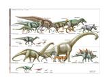 Dinosaur Poster van  Encyclopaedia Britannica