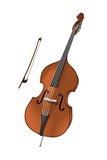 Double Bass and Bow, Stringed Instrument, Musical Instrument Photo