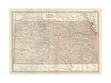 Plate 105. Map of Kansas. United States Impressão giclée por  Encyclopaedia Britannica