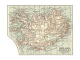 Plate 25. Inset Mape of Iceland Impressão giclée por  Encyclopaedia Britannica
