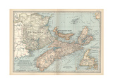 Plate 63. Map of Canada Giclee Print by  Encyclopaedia Britannica