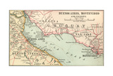 Plate 124. Inset Map of Buenos Aires Giclee Print by  Encyclopaedia Britannica