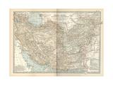 Map of Persia (Iran), Afghanistan and Baluchistan Gicléedruk van  Encyclopaedia Britannica