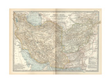 Map of Persia (Iran), Afghanistan and Baluchistan Giclee Print by  Encyclopaedia Britannica