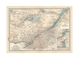Plate 62. Map of Quebec Giclee Print