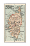 Plate 18. Inset Map of Corsica (Corse). Europe Impression giclée par  Encyclopaedia Britannica