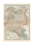 Map of Russia in Europe, with Poland and Finland Giclee Print by  Encyclopaedia Britannica