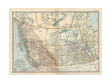 Plate 60. Map of Canada Giclee Print by  Encyclopaedia Britannica