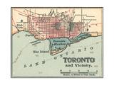Map of Toronto (C. 1900), Maps Gicléedruk van  Encyclopaedia Britannica