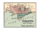 Map of Toronto (C. 1900), Maps Giclee Print by  Encyclopaedia Britannica