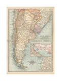 Plate 124. Map of South America Giclee Print by  Encyclopaedia Britannica