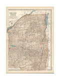 Map of New York State, Northern and Eastern Parts. United States Giclee Print by  Encyclopaedia Britannica