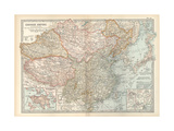 Map of the Chinese Empire (China). Insets of Hong Kong (British), and Peking (Beijing) Giclee Print by  Encyclopaedia Britannica