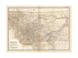 Plate 107. Map of Montana. United States Gicléedruk van  Encyclopaedia Britannica