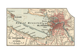 Map of St. Petersburg (C. 1900), Maps Giclee Print