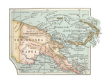 Inset Map of New Guinea or Papua; Bismarck Archipelago. Giclee Print by  Encyclopaedia Britannica