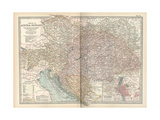 Map of the Empire of Austria-Hungary. Inset of Budapest and Vicinity Giclee Print by  Encyclopaedia Britannica